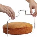 Регулируемый двухслойный резак для торта из нержавеющей стали