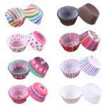 Разноцветные бумажные формочки для кексов и капкейков 100 шт